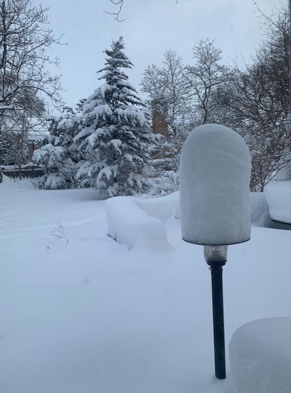 So much snow - 1